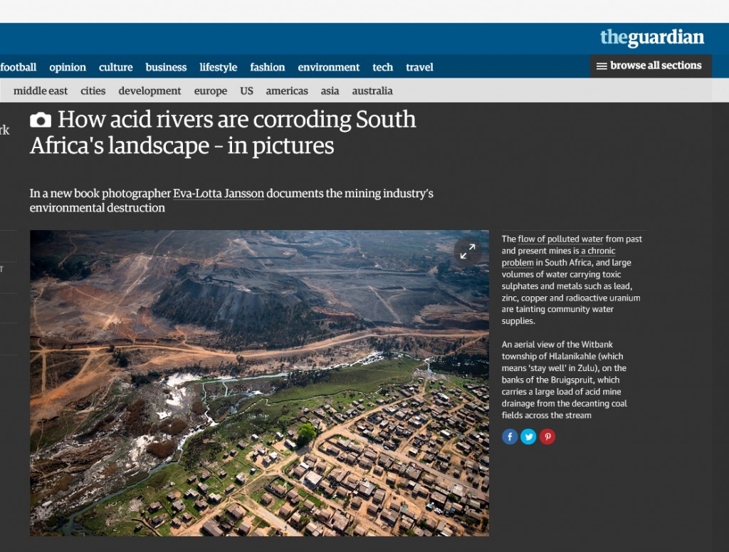 How acid rivers are corroding South Africa's landscape